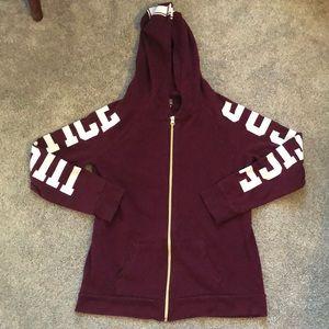 Girls size 14/16 justice zip up hoodie